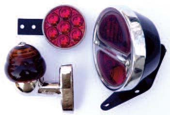 Reflectors, stoplamps, directional lights, lamps for tail lights and indicators