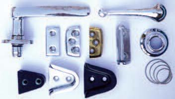 Door handles, door locks and guides
