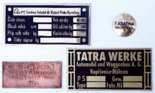 Type plates