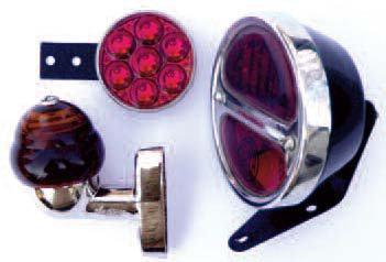 Odrazky, stoplampy, směrová světla, žárovky pro koncová světla a kontrolky